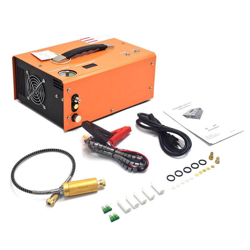 Portable 30MPA  Auto-Stop 12V/110V PCP Air Compressor for Airgun Scuba Paintball