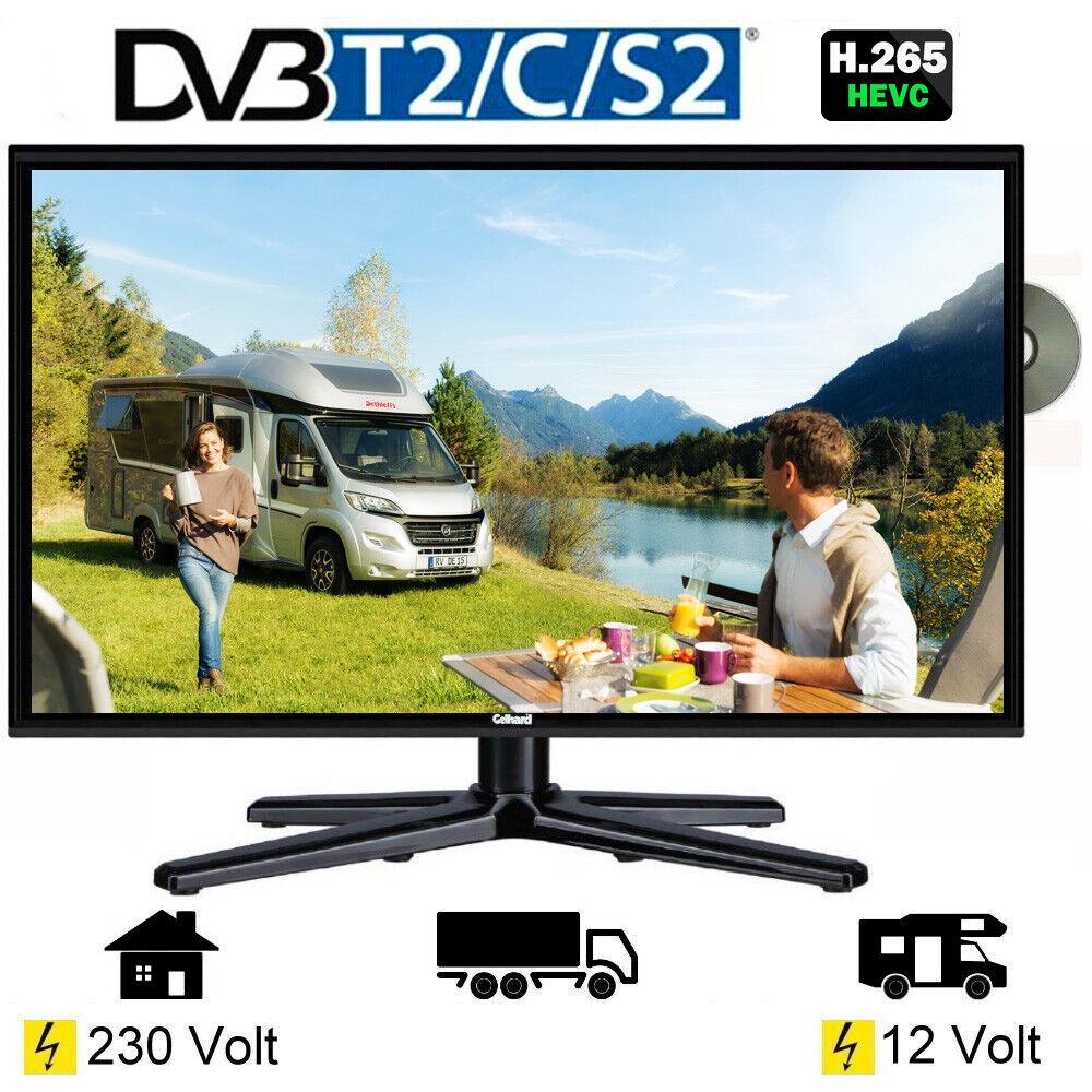 Gelhard GTV-1982 LED TV 19 Zoll Fernseher DVD DVB-S/S2/T/T2/C 230 / 12/ 24 Volt