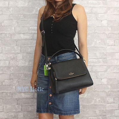 New Kate Spade New York Chester Street Miri Pebbled Leather Shoulder Bag Black