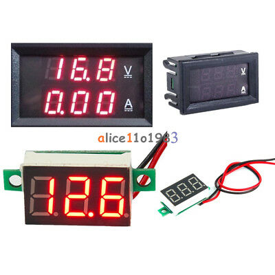 Red Led Voltage Meter Dc100v 10a Red Led Amp Dual Digital Voltmeter Ammeter