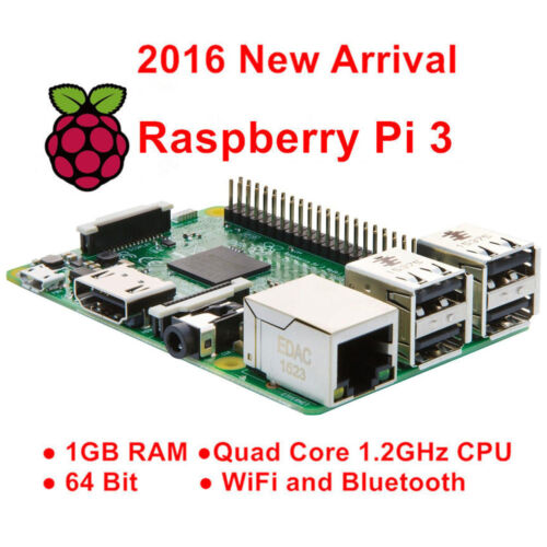 100%Original Raspberry Pi 3 Model B 1GB QUAD Core Broadcom 64bit ARMv8 Processor