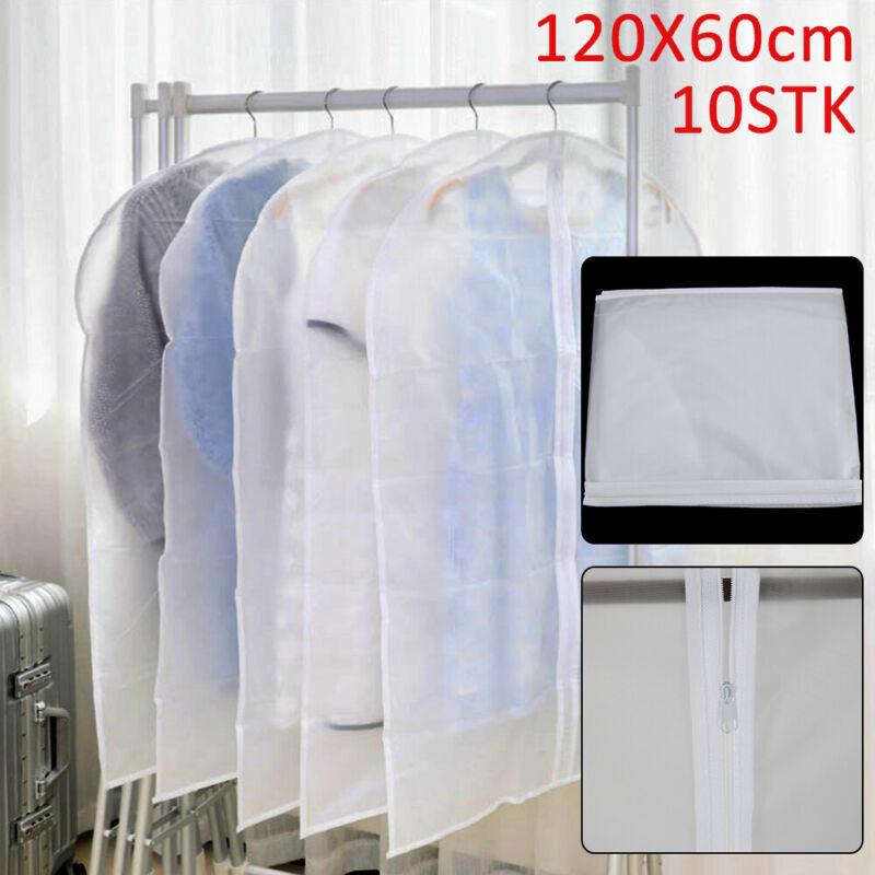 10 Kleiderschutzhülle Kleidersack Schutzhülle transparente Kleiderhülle 120*60CM