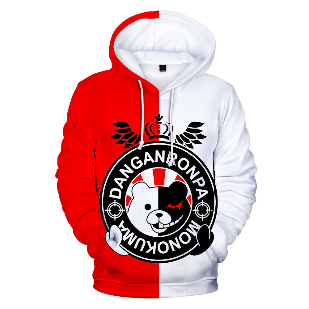 Danganronpa Monokuma White Black Bear Pullover Hoodie Sweater Sweatshirt Jumper Activewear