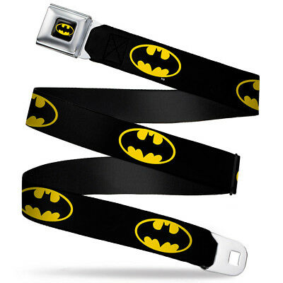Batman Belt For Kids (Seat Belt Buckle for Pants Men Women Kids DC Comics Batman WBM001)