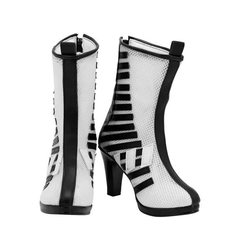 Harley Quinn Shoes Cosplay Birds of Prey Women Boots Ver 1 Handmade