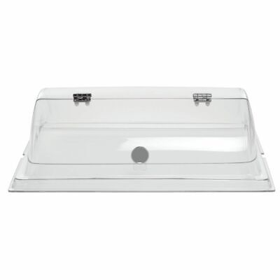 Dome Cover for Pastry Trays Rectangular Clear PETG - 20