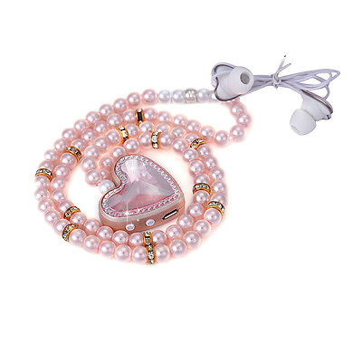 Bling Pearl Necklace Stereo Wireless Bluetooth Earphones For Phone D