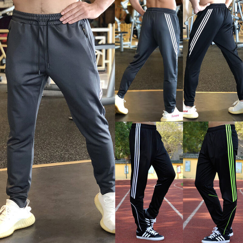 NEW Men Sport Athletic Trousers Casual Jogger Pants Training