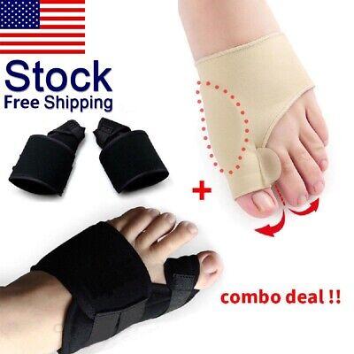 2Types Big Toe Bunion Splint Straightener Corrector Hallux Valgu Relief Pain US ()