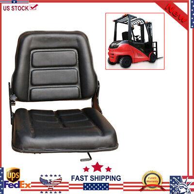 Universal Folding Forklift Seat Cat Clark Komatsu Nissan Yale Toyota Hyster