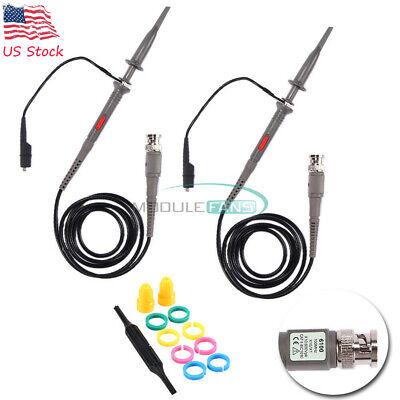 2pcs Oscilloscope Probe Scope Clip Test Lead Set For P6100 100mhz Hp Tektronix