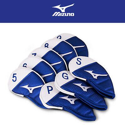MIZUNO Golf Iron Covers 8 PCS PU Leather, RB PRIME Club Head Cover, Blue