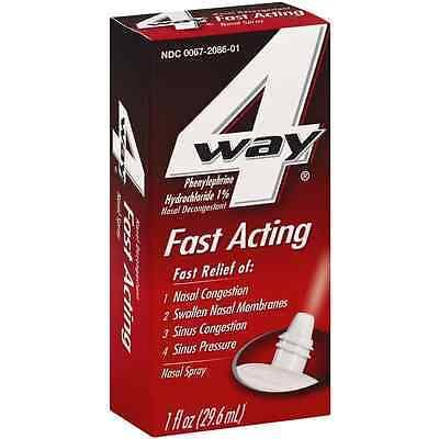 4-Way Fast Acting Nasal Spray 1 oz 4 Way Spray