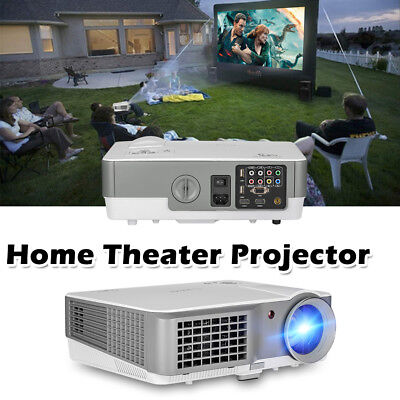 (4000Lumen Video Home Projector LED 7000:1 HD 1080p Home Theater 2*HDMI LCD 2*USB)