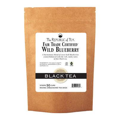 The Republic Of Tea Wild Blueberry Black Tea, 50 Tea Bags, Rich Natural -