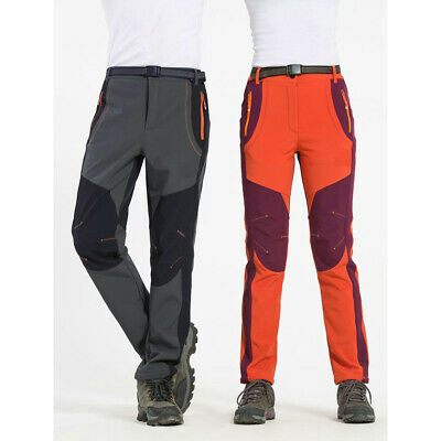 Waterproof Softshell Fleece Pants Outdoor Snow Hiking Ski Tr