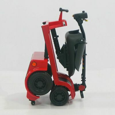 Easy Fold Portable Lightweight Folding Mobility Scooter 4 Wheel 4mph - Red