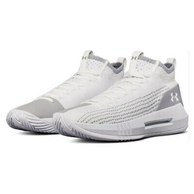 Under Armour Mens Heat Seeker Basketball Shoes Sneakers Trainers White Sports