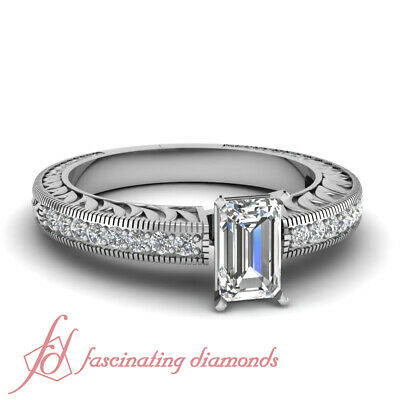 .65 Ct GIA Certified Emerald Cut VS1 Diamond Classic Flywheel Engagement Ring