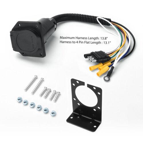 4 way to 7 way round rv blade trailer wiring adapter connector plug rh ebay com