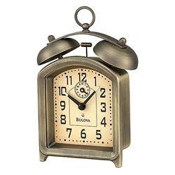 Bulova Holgate Bell Alarm Clock, Antique Bronze