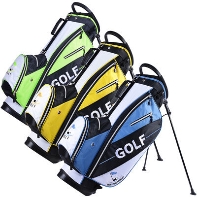 Golf Carry Cart Bag 14-Way Dividers Stand Set Kit with Rain Hood 600D 7 Pockets - Golf Bag Kit