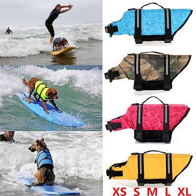 - Pet Aquatic Reflective Preserver Float Vest Dog Cat Saver Dog Life Jacket US
