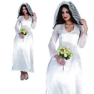 Señoras Real Novia Traje Adulto Kate Middleton Cuento de Hadas Disfraz para...
