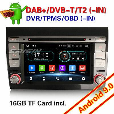 Android 9.0 Autorradios GPS Navegación Radio para FIAT BRAVO DAB+ WiFi OBD DVD