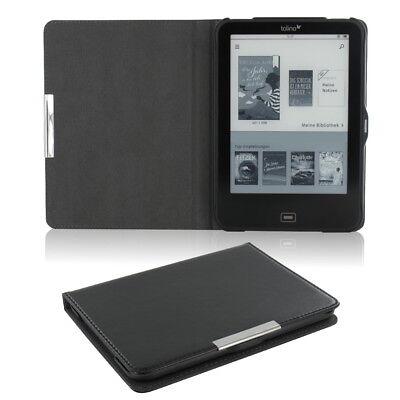 Flip Tasche für Tolino Vision 4 HD Leder-Imitat Schwarz Schutzhülle Etui