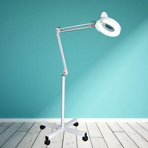 magnifier lamp floor standing magnifying 5 x magnification salon. Black Bedroom Furniture Sets. Home Design Ideas