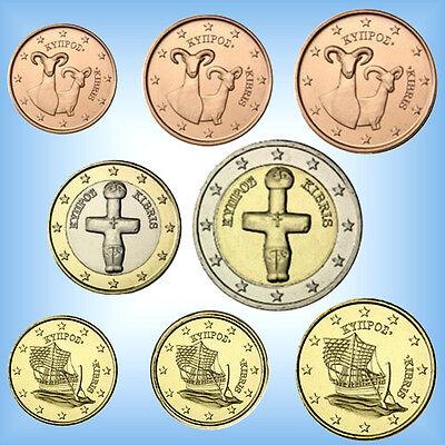 KMS Kursmünzensatz ZYPERN 2018 # 1 Cent - 2 Euro Kursmünzen  3,88 Euro bfr. lose