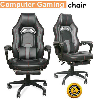 Gaming Chair Racing High Back Office Recliner Computer Desk Seat Footrest Swivel