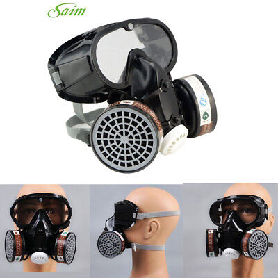 Fa Respirator Gas Mask Safety Chemical Anti-dust Filter Military Eye Goggle Set