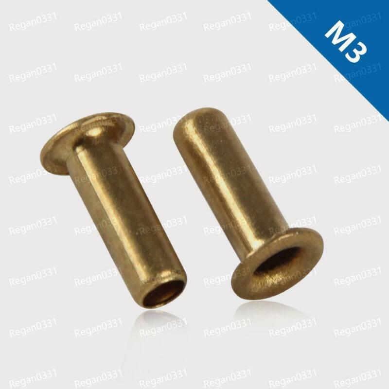 M3 Brass Tubular Rivets Vias Rivet Nuts Through Hole Rivets Hollow Grommets