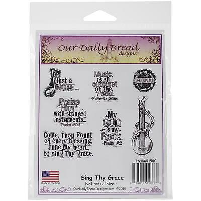 Our Daily Bread Cling Stamps Sing Thy Grace   New