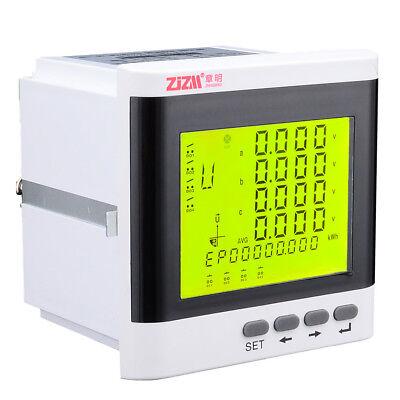 Multi-function 3-phase Digital Lcd Display Energy Voltage Current Power Meter