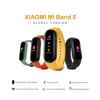 Latest Xiaomi Mi Band 5 (Global Version) NFC, Remote Camera,HR,Walking,Breathing