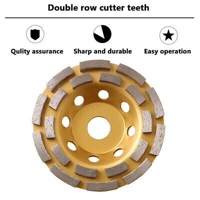 6 Diamond Grinding Disc Cup Wheel Ground Masonry Tool For Concrete Stone Marble