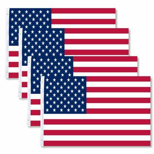 4PCS – American Flag US USA | 3x5 ft | United States Stripes Stars Brass Grommet