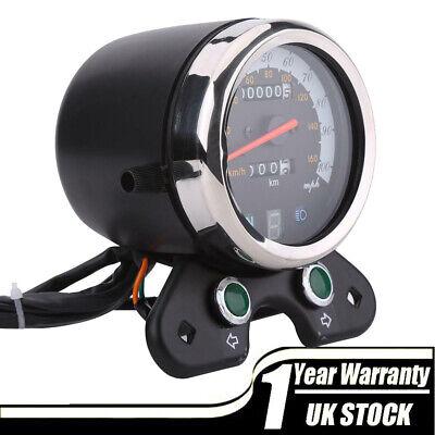 12V Universal Motorcycle Speedometer Tachometer Speedo Meter Digital Display