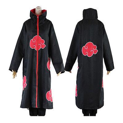 Akatsuki Halloween Costume (Anime NARUTO Cosplay Costume Akatsuki Ninja Wind Coat Uniform Cloak)