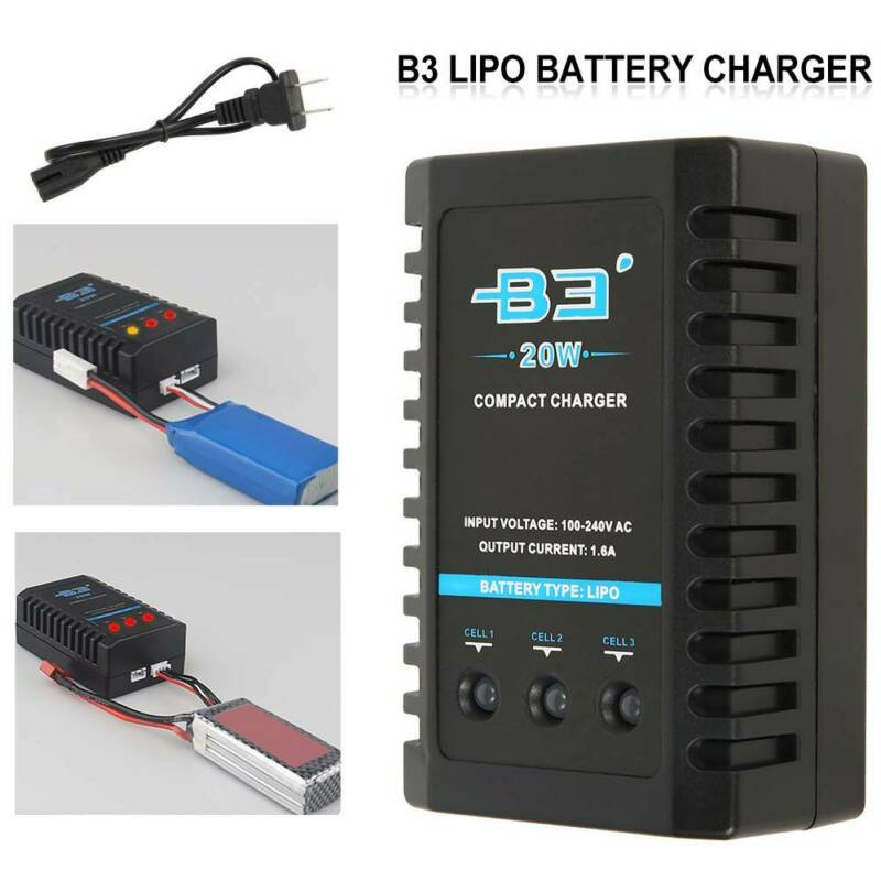 B3 LIPO Battery Charger 2S -3S  Cells for RC 20W Drone Fast