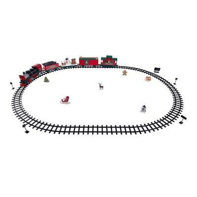 Wireless Remote Control Holiday Express Christmas Train Set 35 Pcs with Sounds