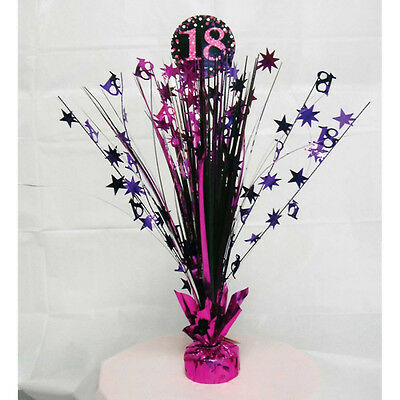18th Birthday Spray Centrepiece Table Decoration Black Pink Purple Age 18 Party - 18th Birthday Centerpieces