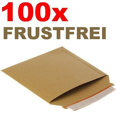100x Vollpappe Buch Verpackung Versandtaschen Buchverpackung - 235 x 180 mm - A5
