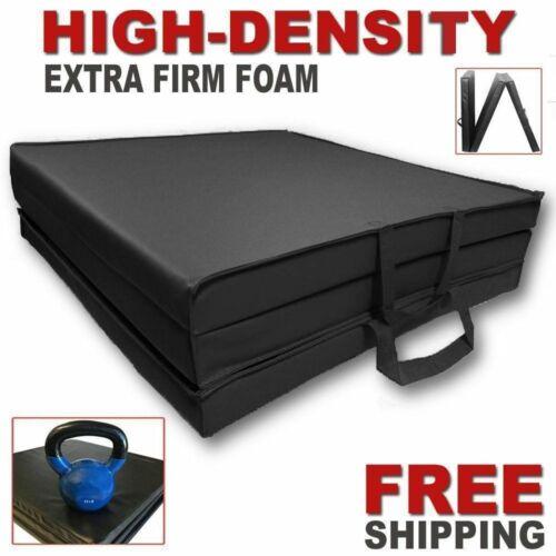 HIGH-DENSITY Folding Mat Thick Foam Fitness Exercise Gymnastics Panel Gym Black