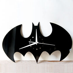 Batman Wall Clock Home Decor Creative Sticker Modern Watch Silent Time