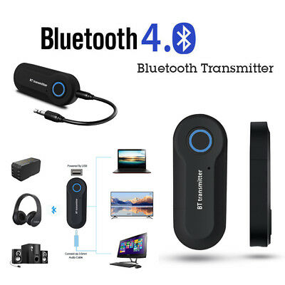 Bluetooth Wireless Stereo Music Audio Transmitter Adapter for TV DVD Player T1I9