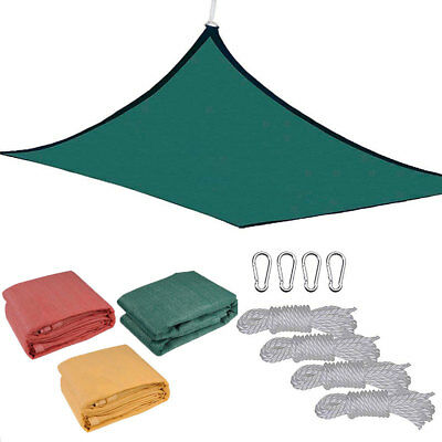 18 X18 Deluxe Square Sun Shade Sail Uv Top Cover Outdoor Canopy Patio Lawn Opt